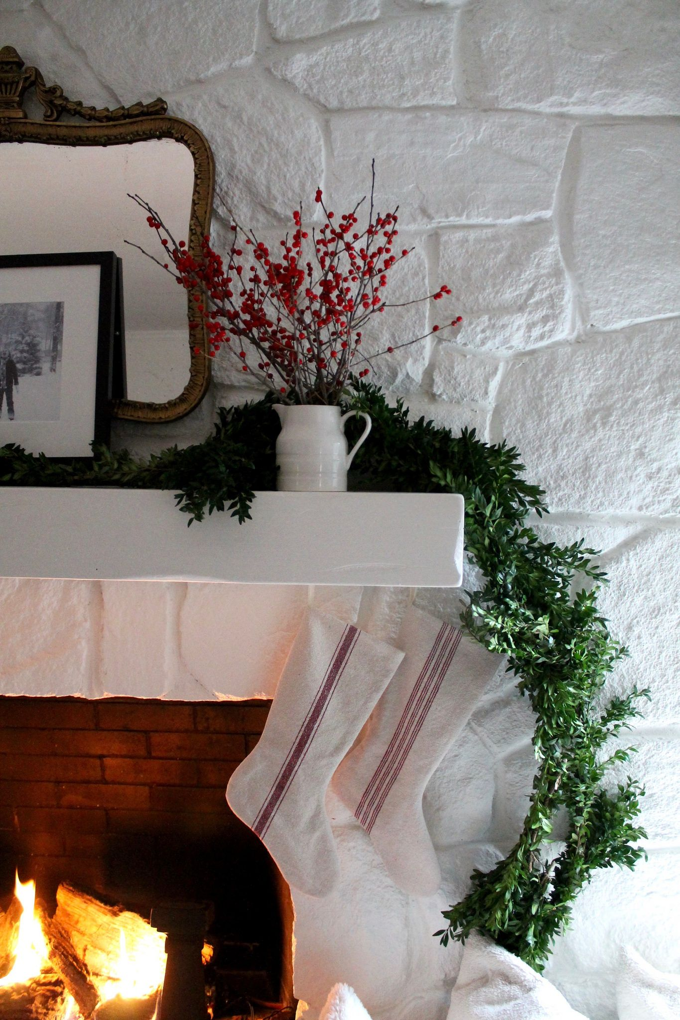 painted stone fireplace update most lovely things stone