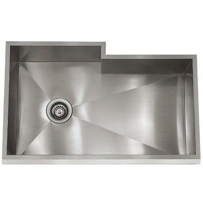 Lenova Zero Radius Bump Out Bowl 32 X 19 Undermount Kitchen Sink