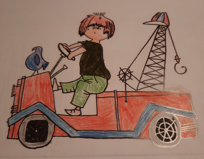 Pluk In Zijn Kraanwagen Thema Kraanwagen Kleurplaten