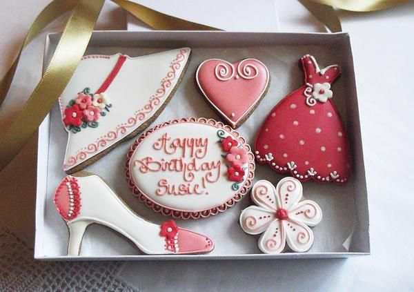Happy Birthday Cookie Gift Box Happy birthday cookie Cookie gifts