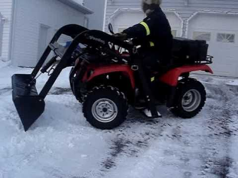 Atv Quad Loader In Action Snow Removal Gerry Dower