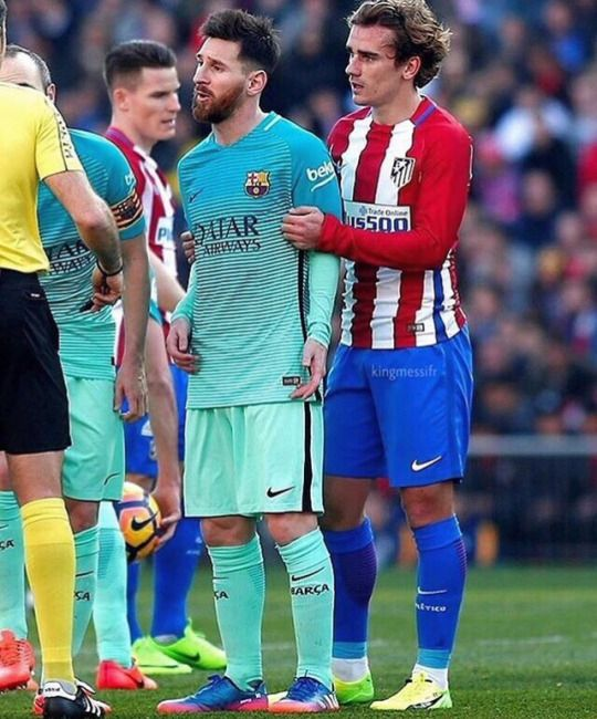Image result for Lionel Messi with Antoine Griezmann