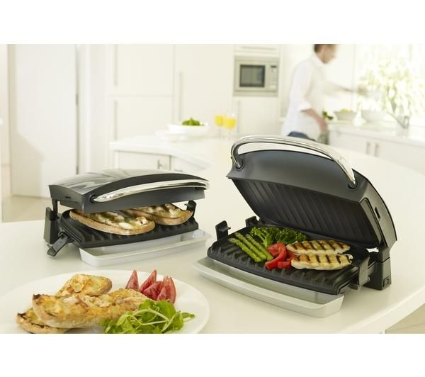 George Foreman 14181 Family Grill And Melt Health Grill Silver Cooking Grilling Recipes Easy Cooking