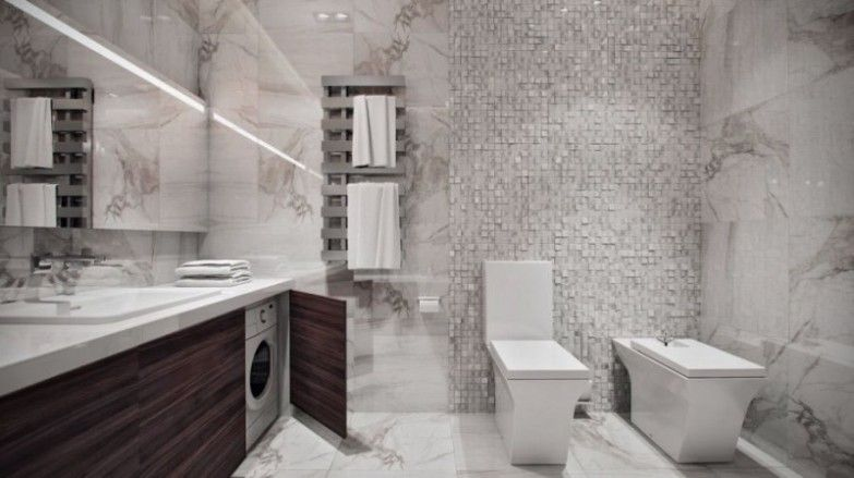 Opulent Bathroom Design Ideas With Laundry Space And Fascinating
