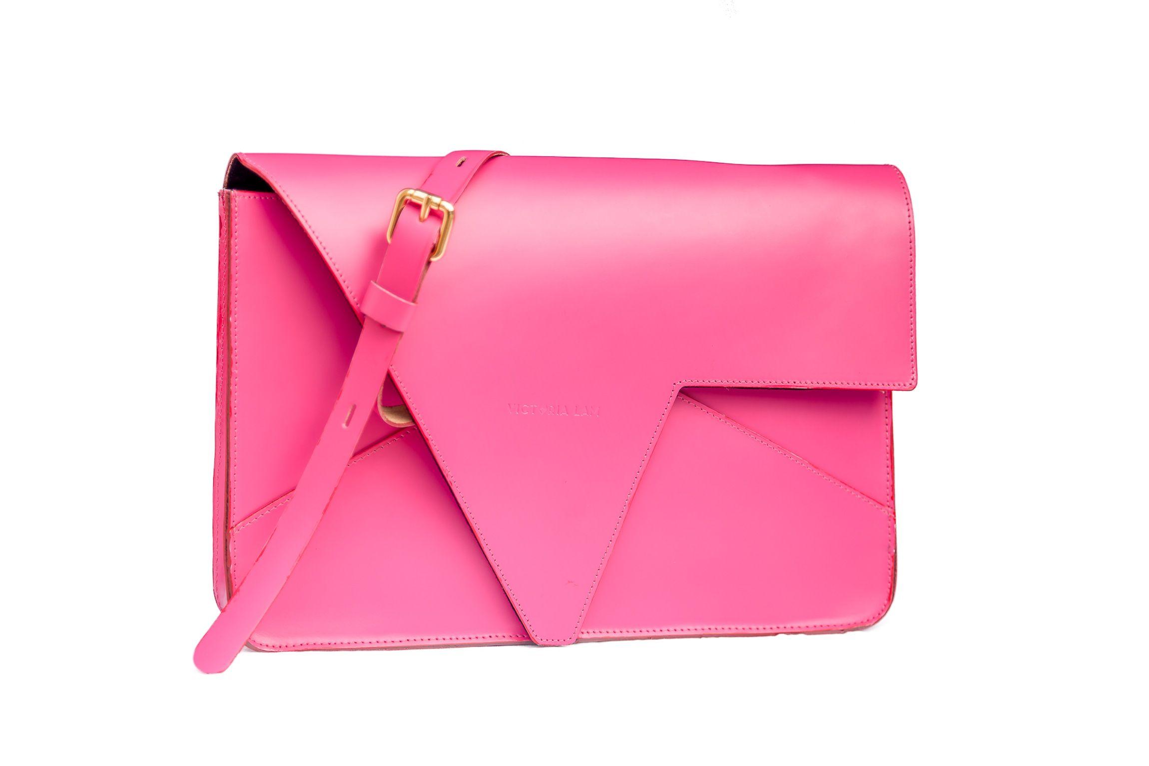 Lovinni Leather Bag Fuchsia Pink