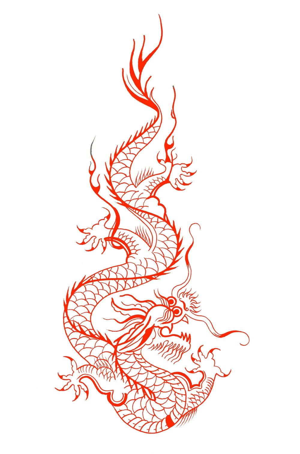 Image Of Red Dragon Print Red Dragon Tattoo Small Dragon Tattoos Dragon Tattoo Designs