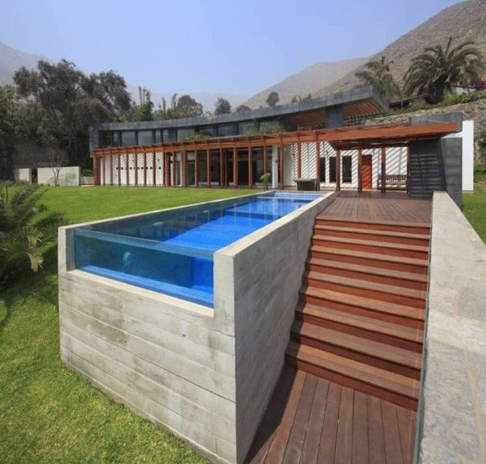Above ground modern pools coolest above ground pools concrete pool building a pool - Modern above ground pools ...