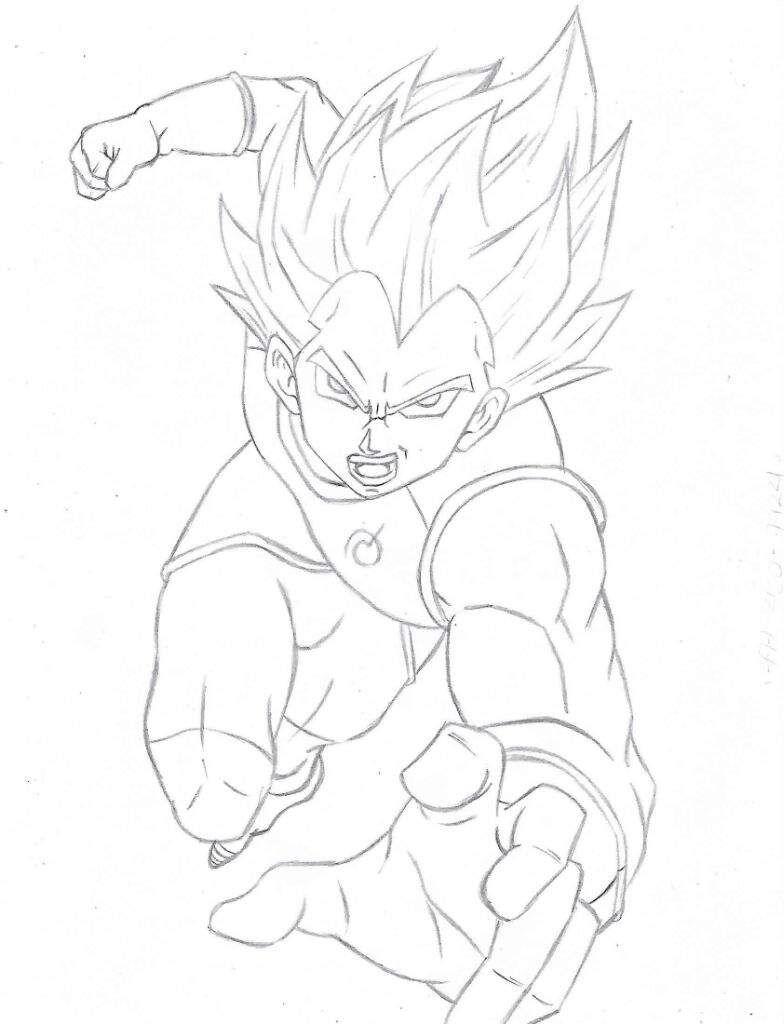 Resultado De Imagen Para Dibujo De Vegeta Ssj Blue Para Colorear