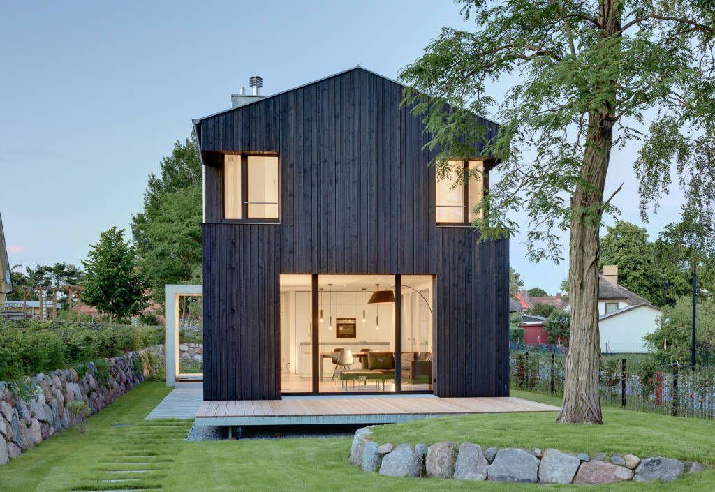 Ansicht giebel satteldach von m hring architekten - Schmales haus bauen ...