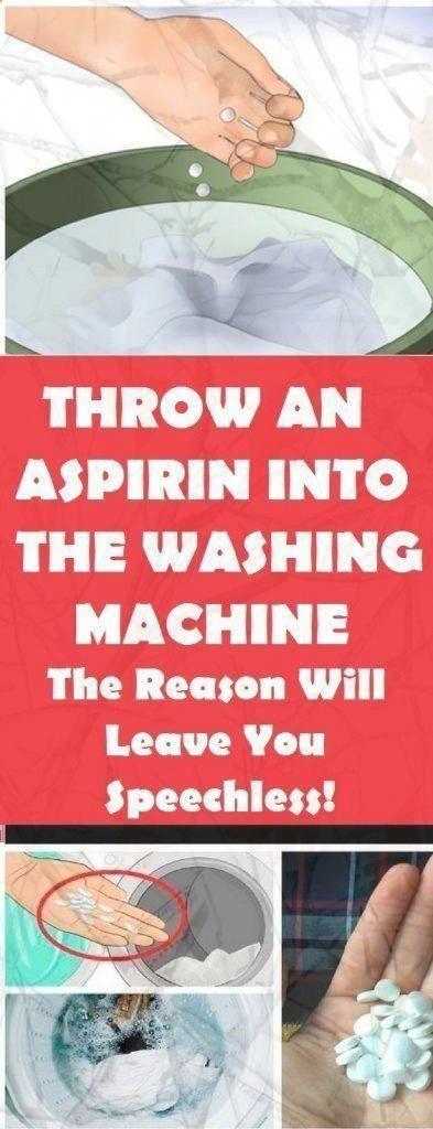 Photo of Werfen Sie ein Aspirin in die Waschmaschine. Der Effekt ist perfekt
