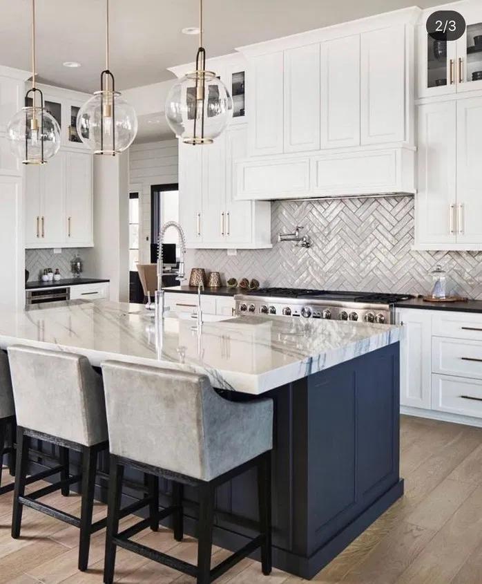140 Inspiring Modern Farmhouse Kitchens Page 5 Homemytri Com White Kitchen Design Kitchen Design Small Home Decor Kitchen