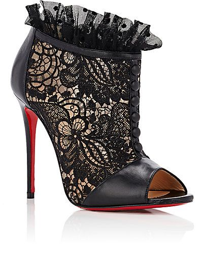 9add51d9323d Christian Louboutin Henriettra Lace   Leather Booties - Boots - 505050936