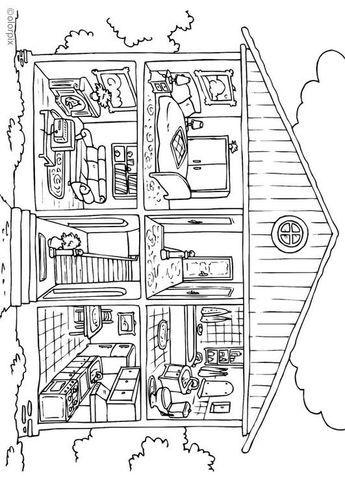 Malvorlage Haus von innen Ausmalbild 25995 Coloring
