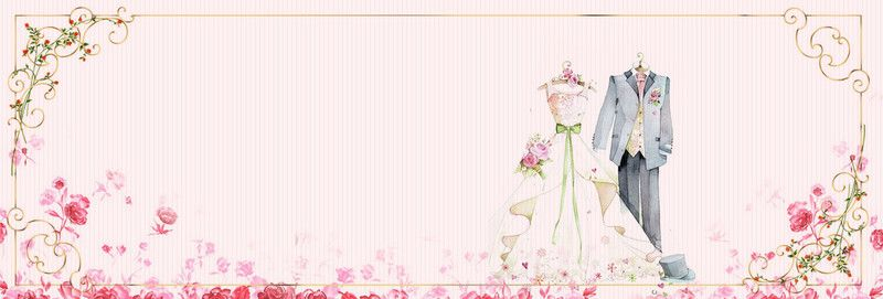 Pink Wedding Card Background Kartu Pernikahan Pernikahan Merah