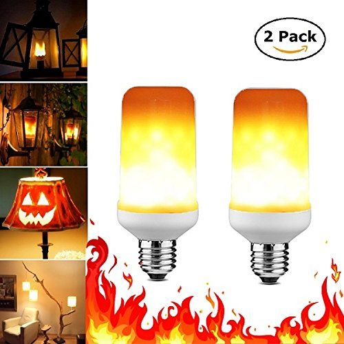 Flame Bulb, Fire Flicker LED Light Warm Color, E26 Base, .