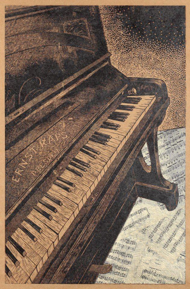linogravura de Olesya Dzhurayeva