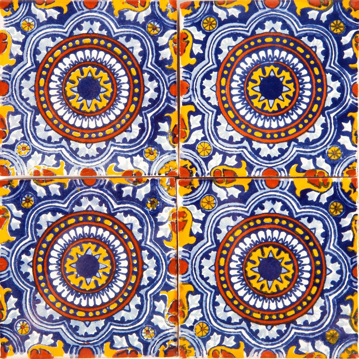 Mexikanische Keramik Fliesen Handbemalte Keramik