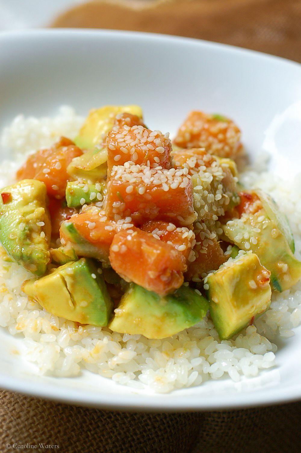 Simple Salmon Sushi Bowl Recipe Sweet sushi, Sushi