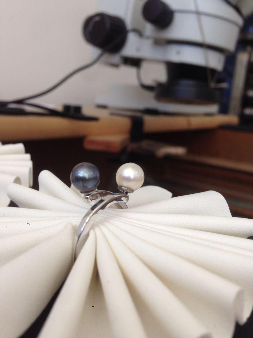 Anello in argento 925 con perle d'acqua dolce. Handmade!!!