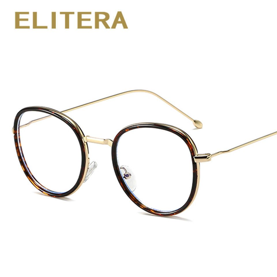 ELITERA Metal Glasses Frame Plain Mirror Round Vintage Optical Frame ...