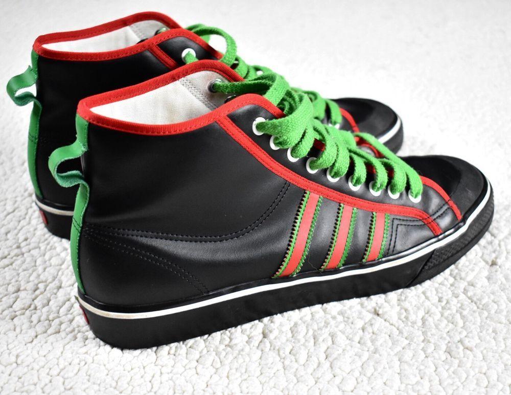 ab9046100755 ADIDAS MI Custom Leather Hi High Top Sneakers Italian Colors Italy Flag   adidas  HiTops