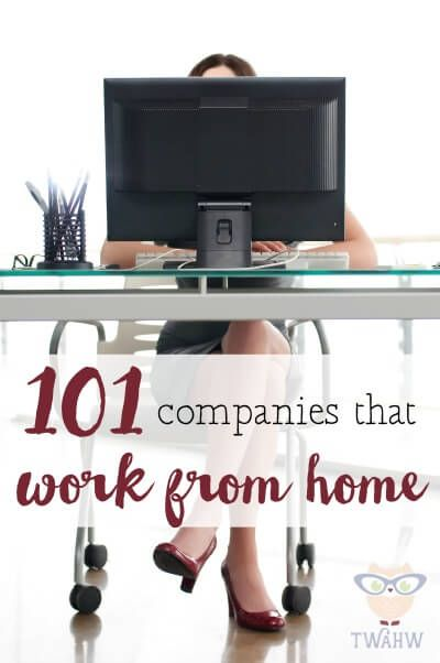 AWESOME list of companies that hire people to work from home
