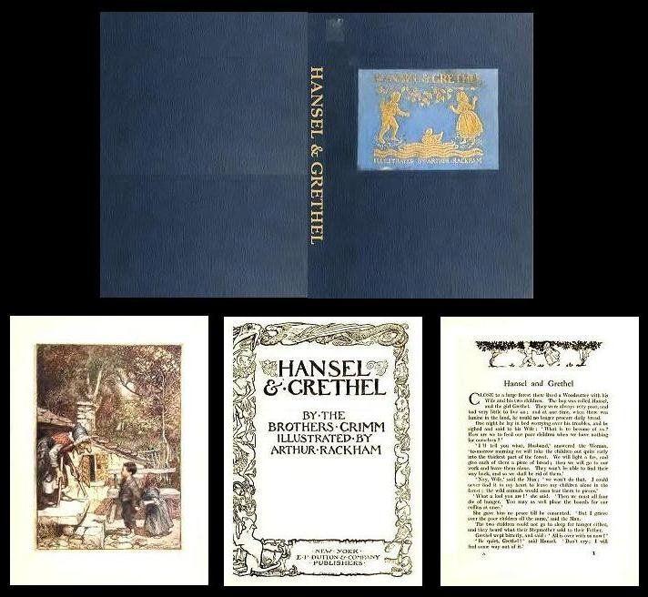 1:12 SCALE MINIATURE BOOK A CHRISTMAS CAROL ARTHUR RACKHAM ILLUSTRATED