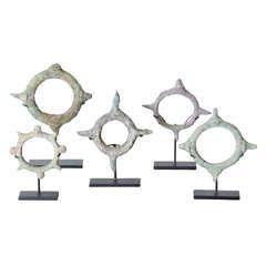 Set of Five Bronze Bracelets