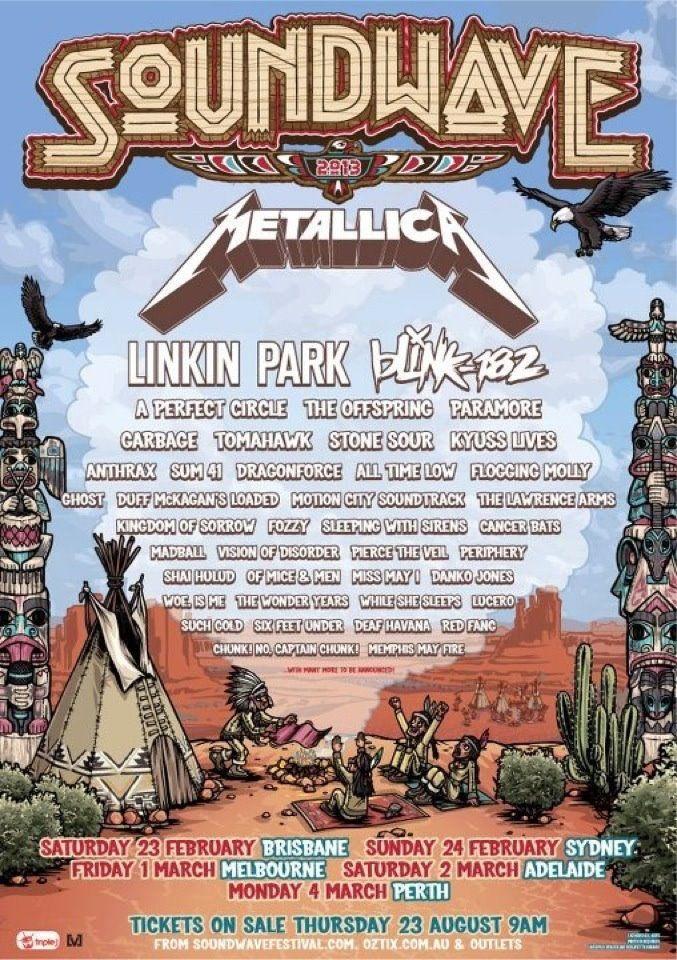 Soundwave Music Festival Australia 2013 Linkin Park Paramore Music Festival Poster