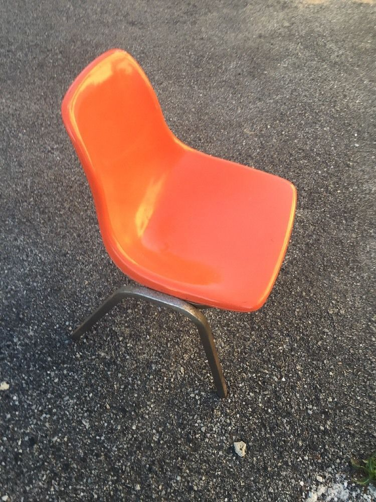 Vintage Howell Fiberglass Chair USA Mid Century Modern Orange  #MidCenturyModern #howell