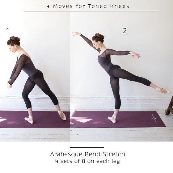 4 Ballet-Inspired Moves for Toned Knees #balletfitness