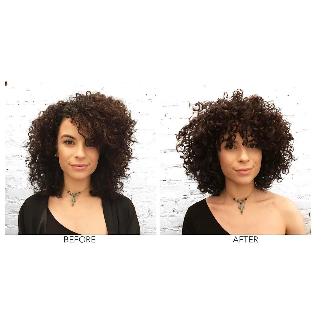 Mona Baltazar NEW YORK CITY (@themonacut)  Curly hair styles