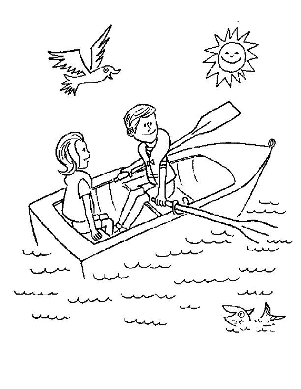 Row Row row your boat coloring sheet | Everything Preschool Coloring ...