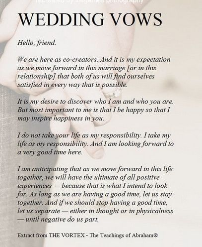 Wedding Vow For Him