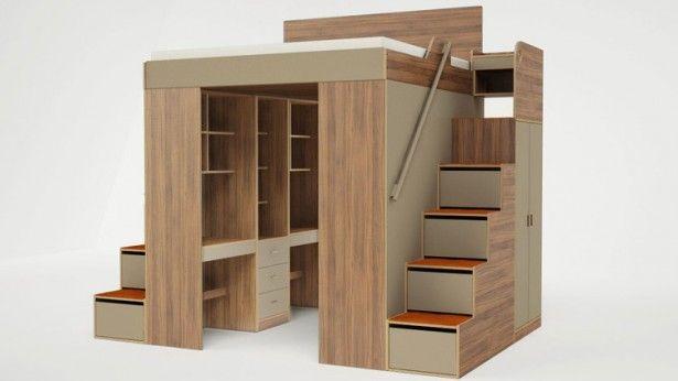 Met deze hoogslaper bespaar je veel ruimte in je kleine slaapkamer
