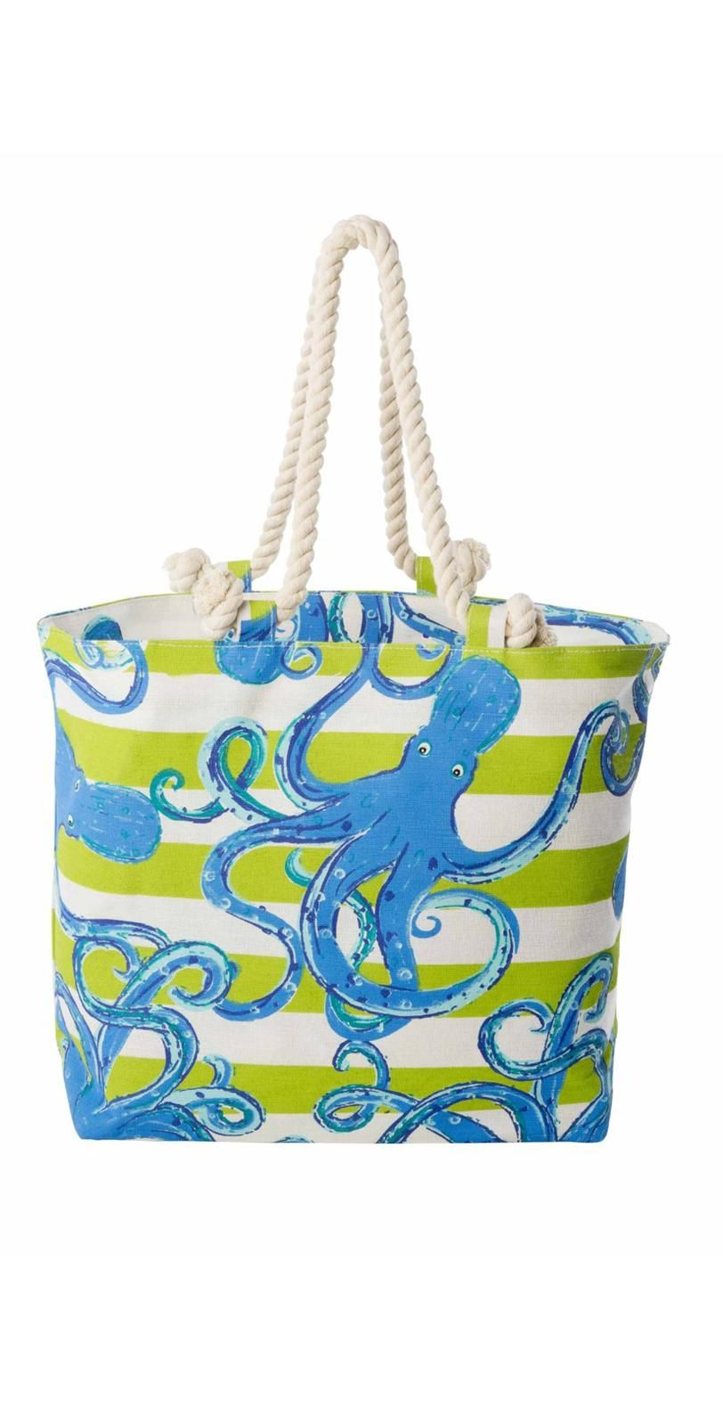 Mud Pie Octopus Nautical Tote Bag 8613032BL | Your Bag Board ...