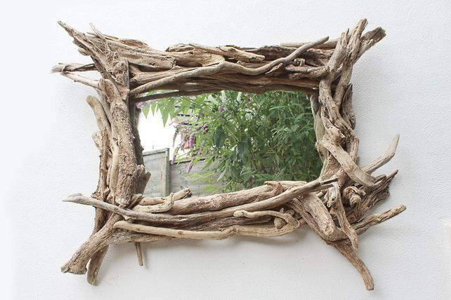 Large Driftwood Mirror,Landscape Rustic Mirror,Overmantle Drift wood Mirror  £395.00