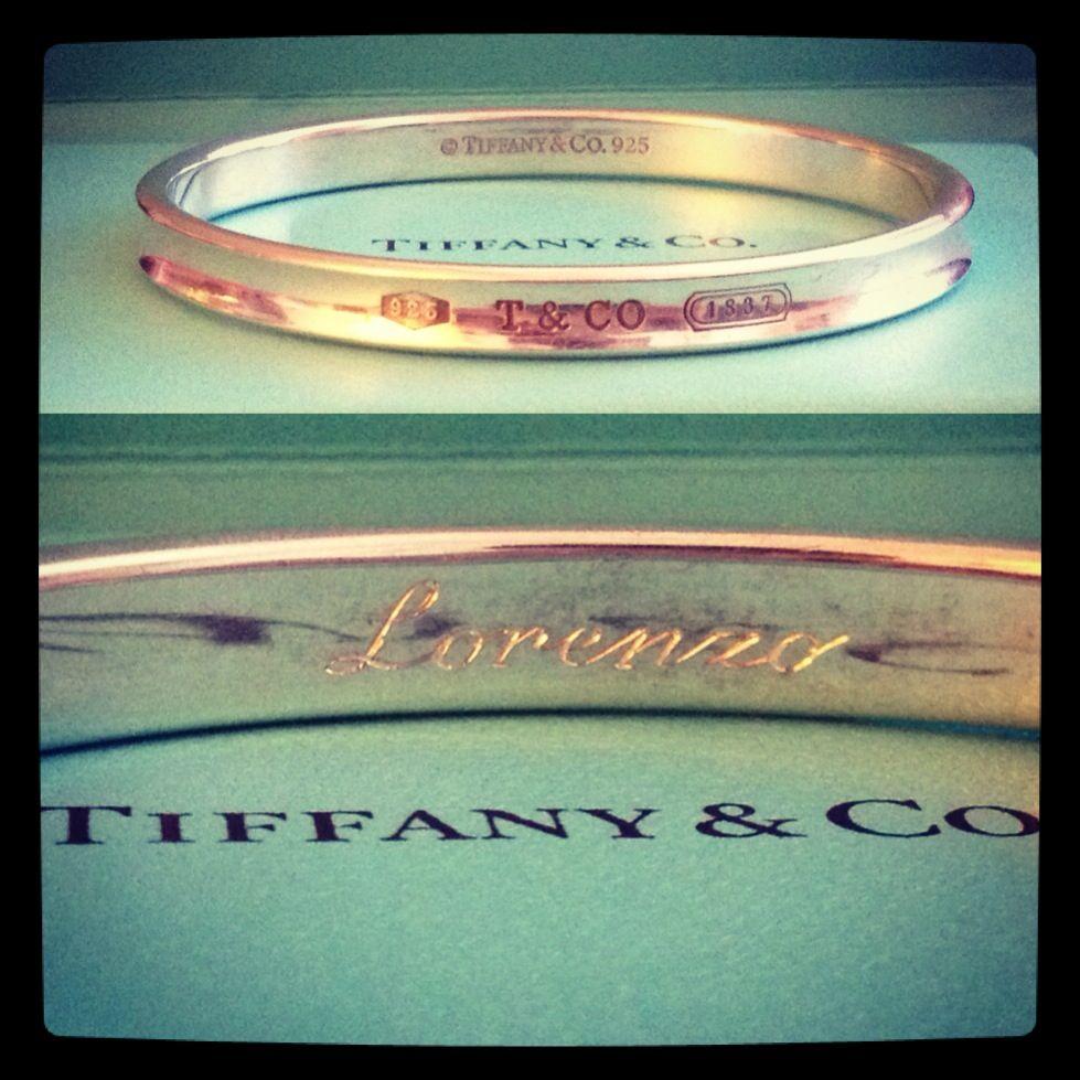 Tiffany's bracelet engraved