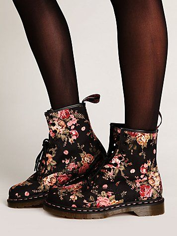 Martens Victorian Floral Docs at Free People Clothing Boutique - StyleSays