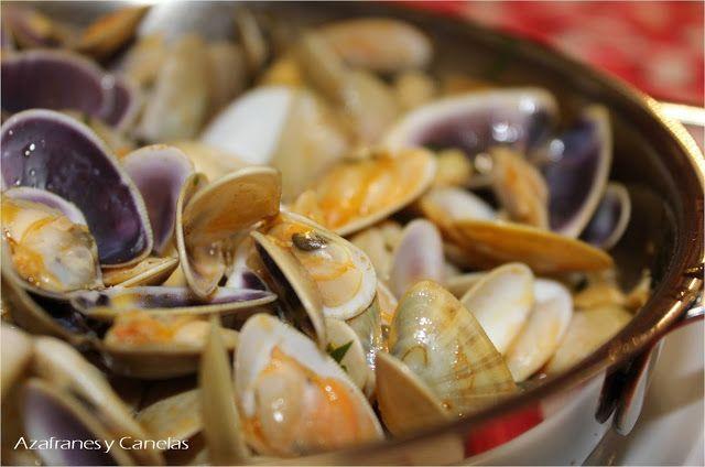 Coquinas Al Ajillo Recetas De Cocina Recetas De Comida Mariscos