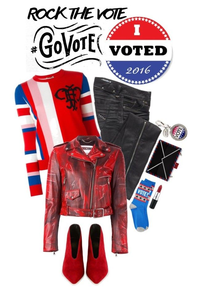 """Rock the Vote in Style"" by shortyluv718 ❤ liked on Polyvore featuring Parasuco, Emilio Pucci, Moschino, HOT SOX, Karl Lagerfeld and rockthevote"