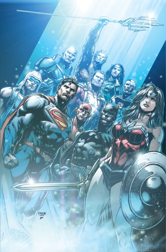 Justice League #34 cover by Jason Fabok