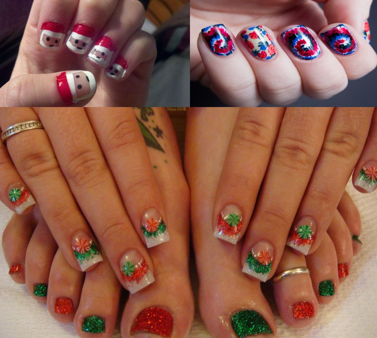 357 Holly Jolly Christmas Nail Art Designs You\'re Gonna Love! | Easy ...