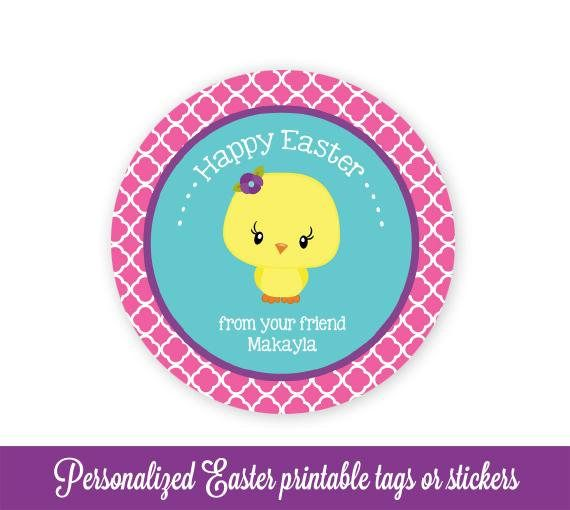 Easter gift tags easter favor tags easter tags chick easter bag easter gift tags easter favor tags easter tags chick easter bag tags easter printable kids personalized easter tags editable pdf favours easter and negle Image collections