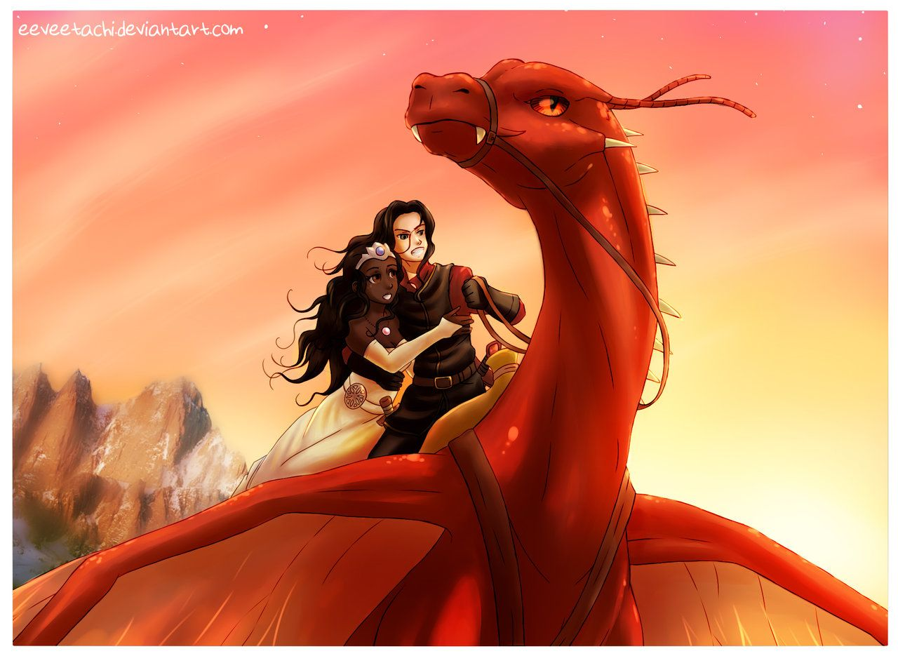 Sunset Flight by Eeveetachi.deviantart.com on @DeviantArt ...Eragon Murtagh And Thorn