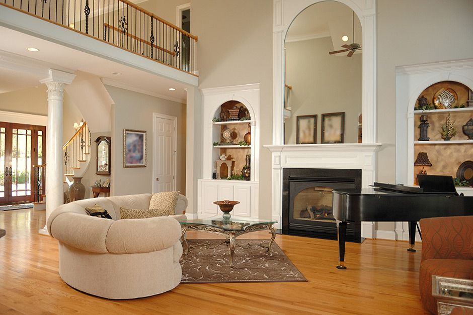 Living Room With Built In Cabinets