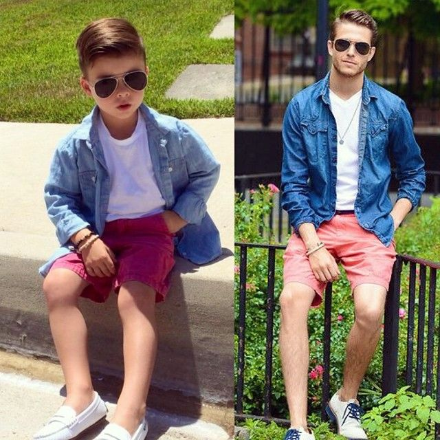spring hack @ministylehacker.com keeps em coming with this denim on red shorts pairing #gallaJR
