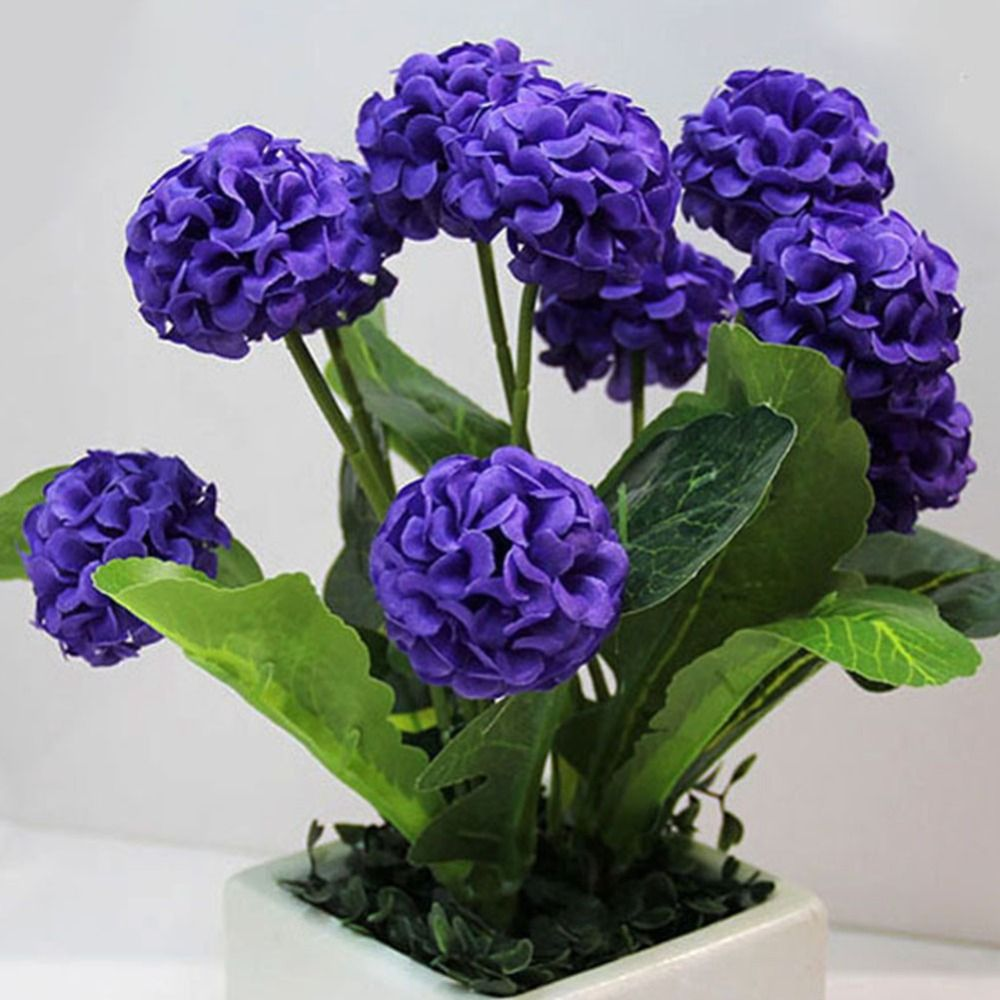 9 Heads Artificial Flowers Hydrangea Bouquet Home Wedding Decorative
