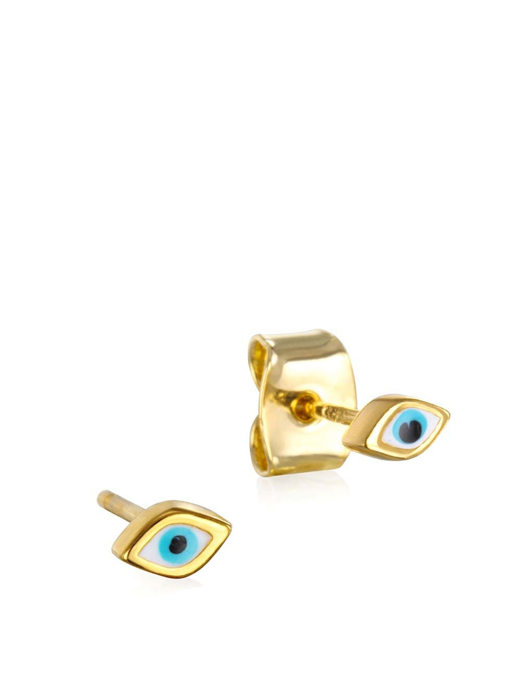 Tai Jewelry	Earrings	Enamel Tear Eye Earrings