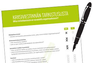 Telegraafin LOKI: Kriisiviestinnän tarkistuslista
